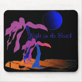 Nuit sur la plage tapis de souris