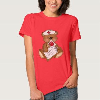 Nurse Bear Cartoon womens t-shirt