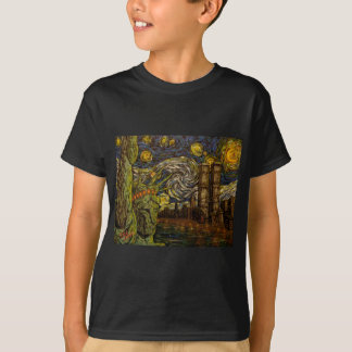 NYC Starry Night.: Twin Towers (The True Towers) Shirt