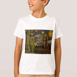 NYC Starry Night.: Twin Towers (The True Towers) T Shirts