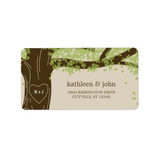 Oak Tree Wedding Address Labels
