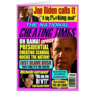 Obama Cheating Scandal Greeting Card
