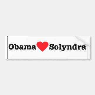 Obama Loves Solyndra Bumper Sticker