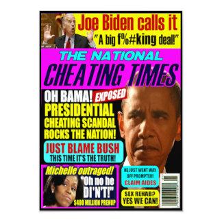 "Obama Scandal Greeting Card 5"" X 7"" Invitation Card"