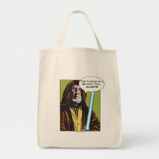 Obi-Wan Kenobi Comic Grocery Tote Bag