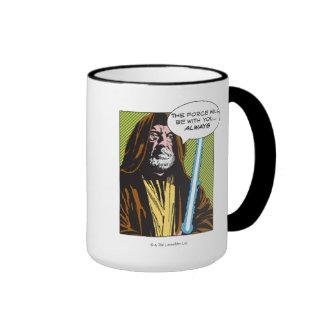 Obi-Wan Kenobi Comic Ringer Coffee Mug