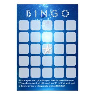 Ocean Blue Sea Themed 5x5 Bridal Bingo Card Large Business Card