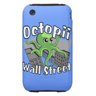 Octopii Wall Street - Occupy Wall St! iPhone 3 Tough Cover