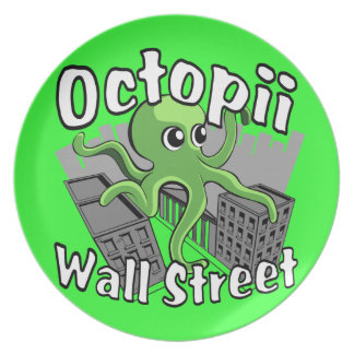 Octopii Wall Street - Occupy Wall St! Plates