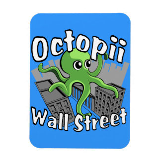 Octopii Wall Street - Occupy Wall St! Rectangular Photo Magnet