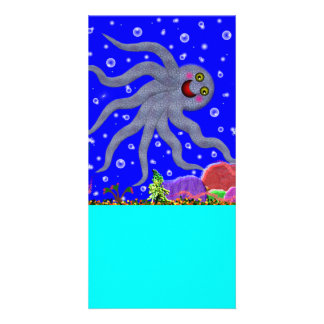 Octopus Designed Book Mark Photo Cards