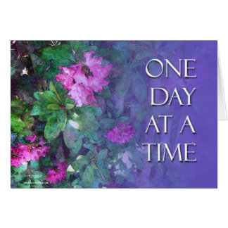 ODAT One Day at a Time Rhododendrons Greeting Card