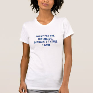 Offensive Accurate Things Tee Shirt