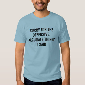 Offensive Accurate Things Tshirt