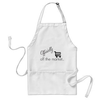 Officially off the Market- Funny Wedding Design Standard Apron