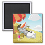 Olaf | Chillin' in the Sunshine Square Magnet