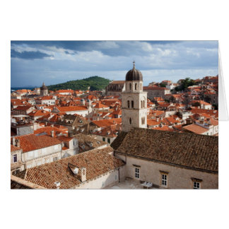 Old City of Dubrovnik in Croatia Note Card