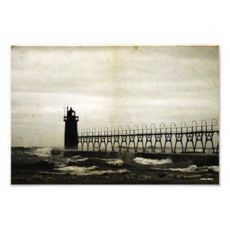 Old Fashioned Lake Michigan Lighthouse Photograph