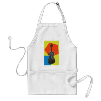 Old hand painted Violin Standard Apron