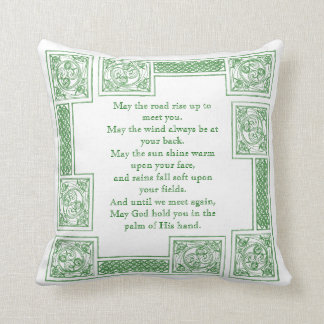 Old Irish Blessing in Celtic Knots Pillows