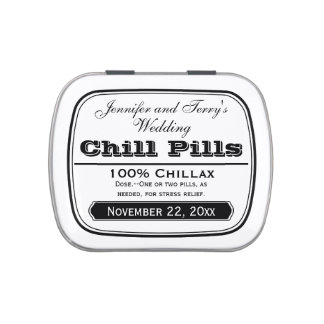 Old Medicine Labels Wedding Favors Chill Pill Tin