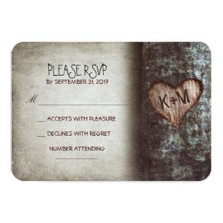 "Old tree rustic wedding RSVP cards 3.5"" X 5"" Invitation Card"
