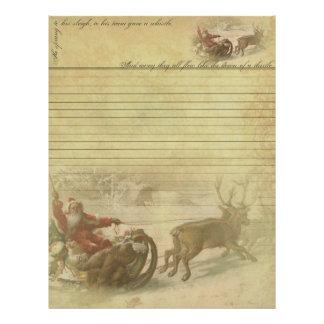 Old World Santa Letterhead - Letter from Santa