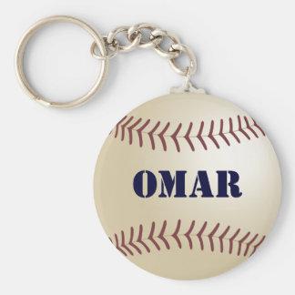 Omar Baseball Keychain by 369MyName