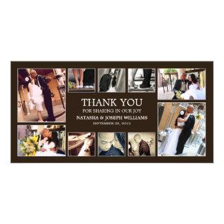 ONYX COLLAGE   WEDDING THANK YOU CARD CUSTOM PHOTO CARD