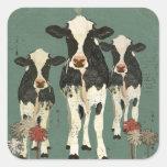 Onyx & Ivory Cows Sticker