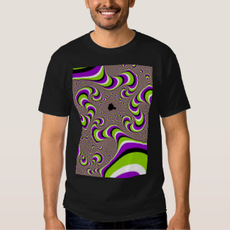 Optical Illusion Purple Green Holographic Hypnotic T-shirts
