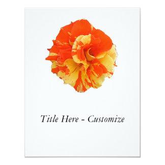"Orange and Yellow Rose 4.25"" X 5.5"" Invitation Card"