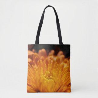Orange Chrysanthemum Flower Autumn Floral Tote Bag