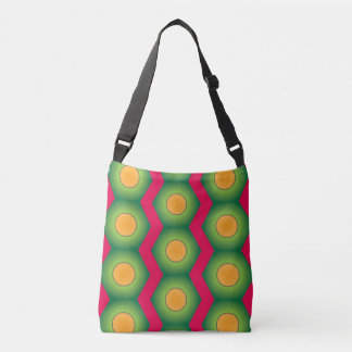 Orange dot pattern all over print crossover bag