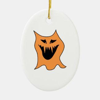 Orange Monster. Ceramic Oval Ornament