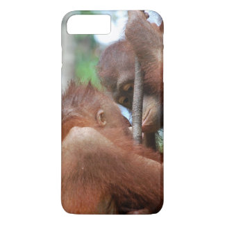 Orangutan Wildlife Kiss iPhone 7 Plus Case