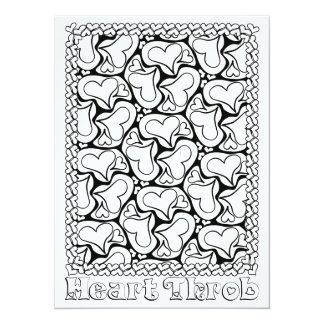 "OrnaMENTALs Heart Throb Color Your Own 5.5"" X 7.5"" Invitation Card"