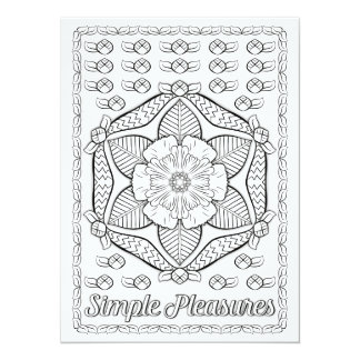 "OrnaMENTALs Simple Pleasures Color Your Own 5.5"" X 7.5"" Invitation Card"