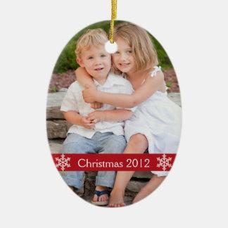 Ornement 2012 de souvenir de photo de Noël