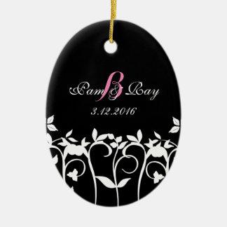 Ornement de Noël de mariage - souvenir unique