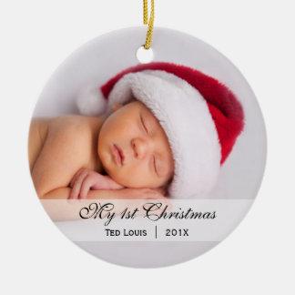 Ornement de photo de Noël de | du bébé premier