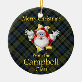 Ornement écossais de Noël de Campbell de clan