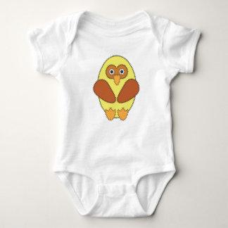 Owl yellow stitched shirt