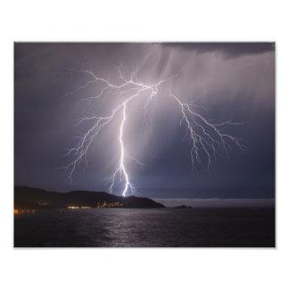 Pacifica lightning storm photo art