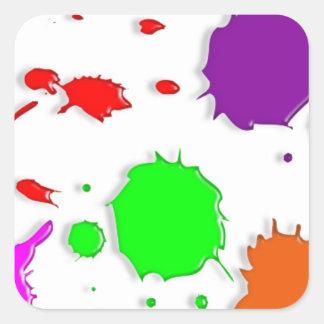 Paint Splatters Square Sticker