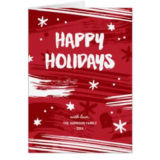 Painted Christmas   Non-Photo Folded Holiday Greeting Card