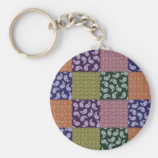 Paisley Patchwork Pattern Keychain