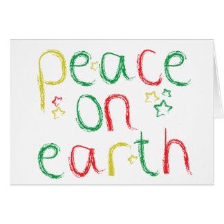 Paix sur Noël de la terre Carte De Vœux