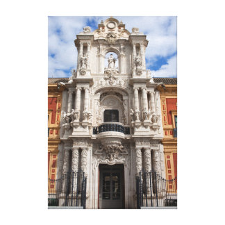 Palace of San Telmo in Seville Stretched Canvas Print