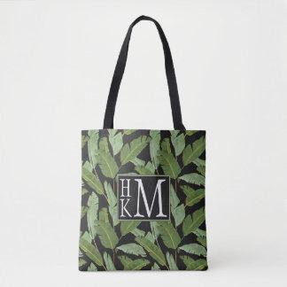 Palm Leaves | Monogram Tote Bag